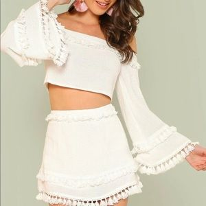 Cute Off white two piece